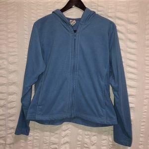 Columbia Blue Hooded Fleece Jacket